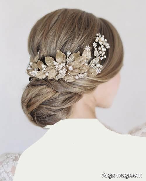 مدل موی بسته و شیک عروس