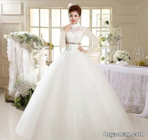 مدل لباس عروس زیبا و شیک پف دار