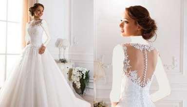 لباس عروس یقه پرنسسی