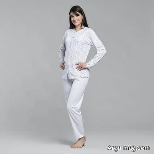 مدل لباس راحتی سفید زنانه