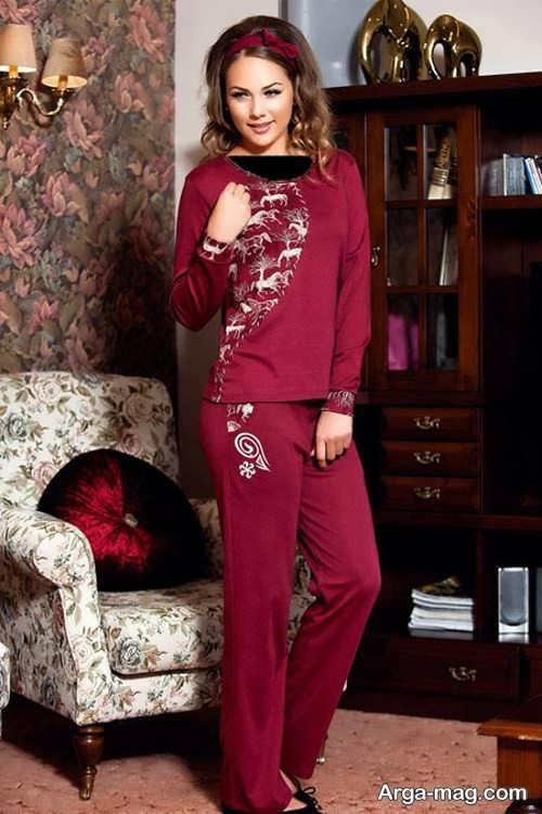 لباس راحتی طرح دار و شیک زنانه