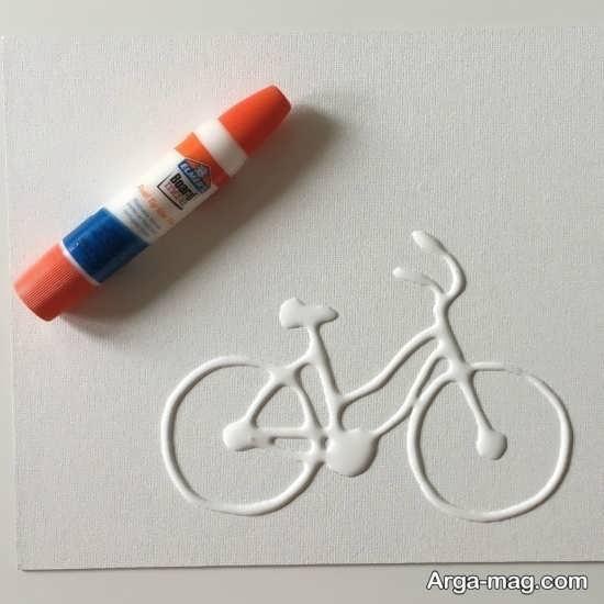 کاردستی جالب دوچرخه با چسب