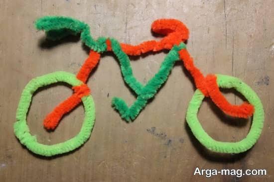 کاردستی جالب دوچرخه