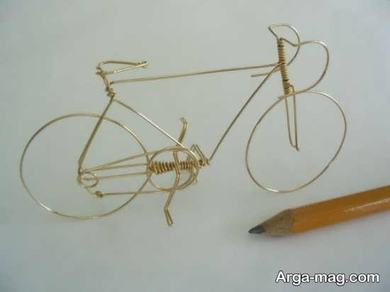 کاردستی جالب دوچرخه با سیم مفتولی
