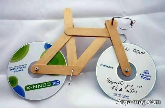 ساخت زیبا دوچرخه با سی دی