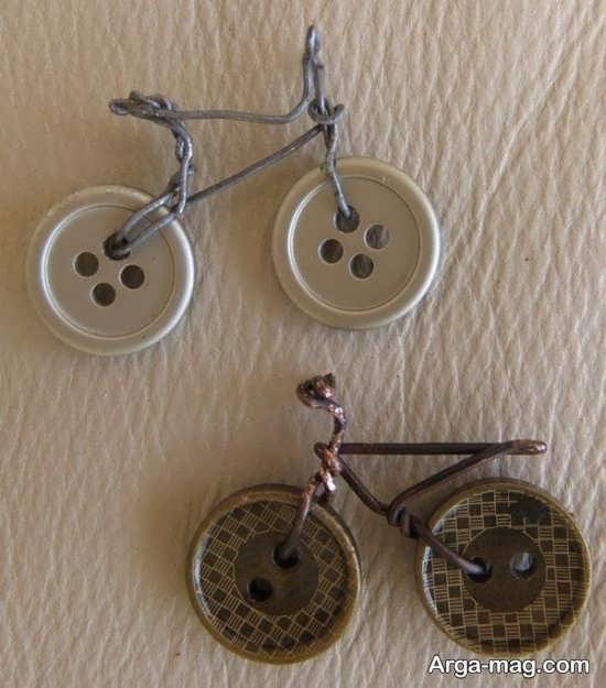 کاردستی دوچرخه دکمه ای