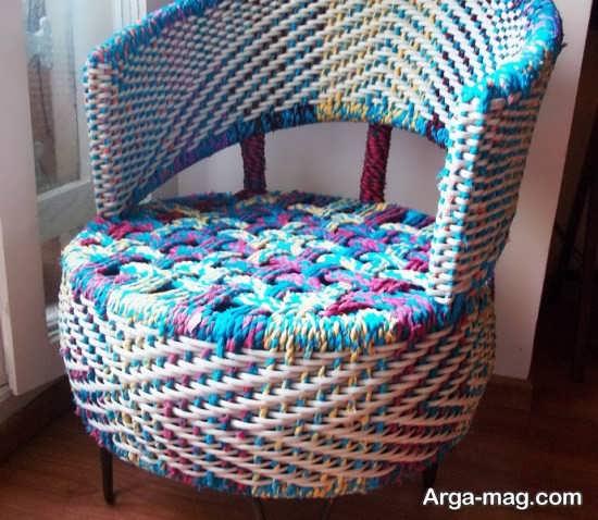 ساخت صندلی زیبا از جنس لاستیک ماشین