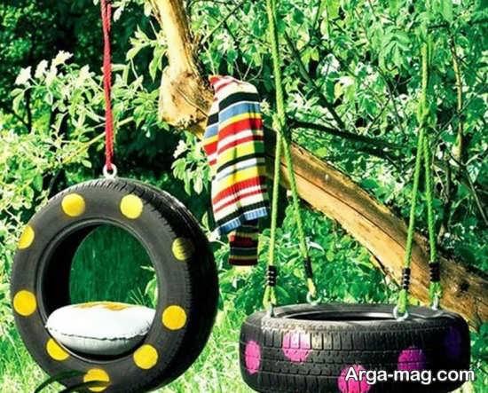ساخت وسایل سرگرمی و بازی با لاستیک ماشین