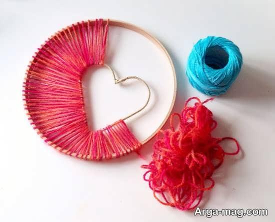 ساخت قلب با کاموا