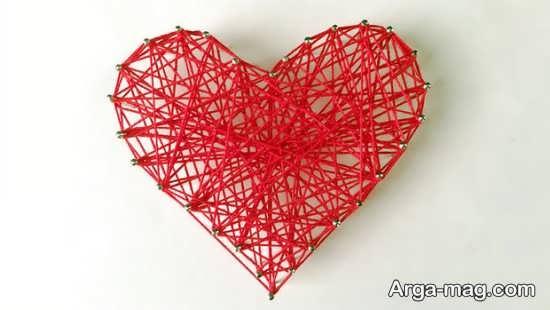 کاردستی قلب با کاموا