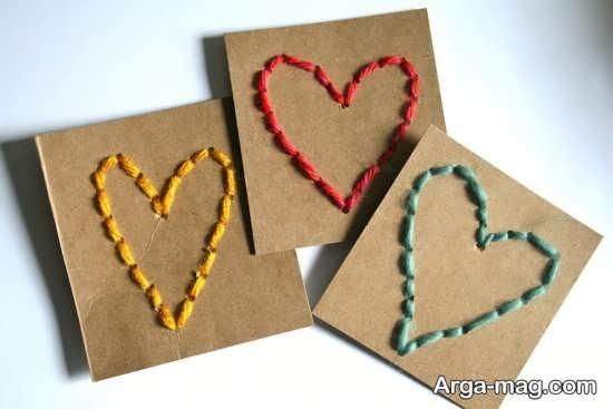 کاردستی عالی قلب با کاموا