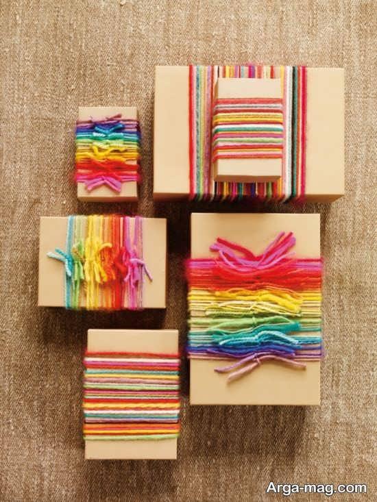 ساخت بسته هدیه با کاموا