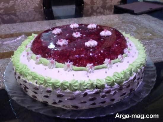 تزیین کیک ژله ای شب یلدا