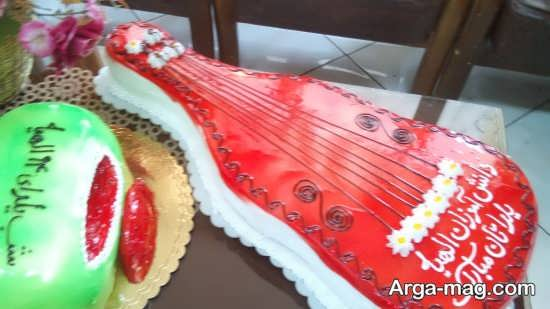 مدل کیک گیتار شب یلدا