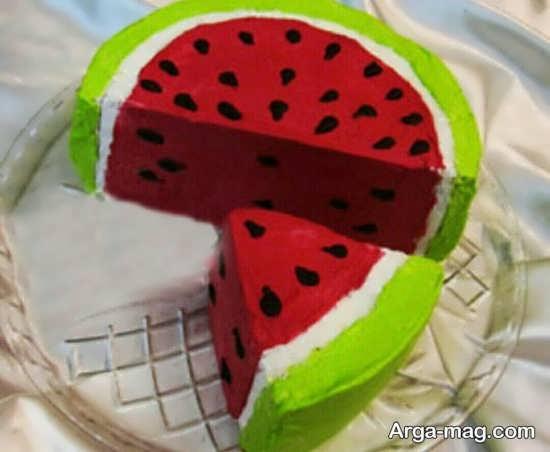 مدل کیک هندوانه شب یلدا