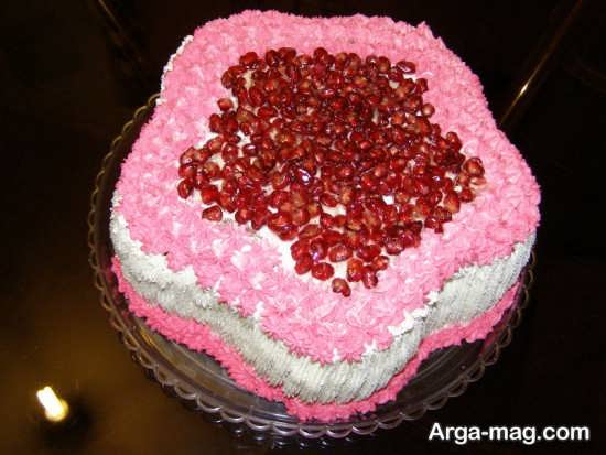 چیز کیک انار شب یلدا
