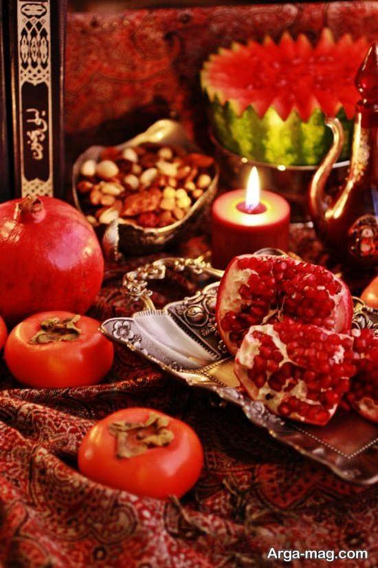 میوه آرایی زیبا شب یلدا