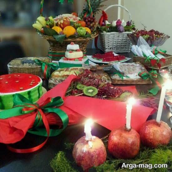 تزیین زیبا میز شب یلدا