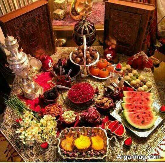 تزیین میز شب یلدا به سبک سنتی