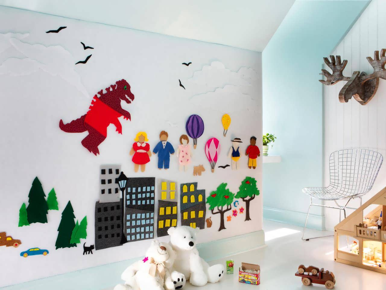 تزیین اتاق کودک با نمد و ایده های متفاوت نمدی