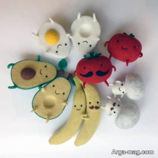 تزیین دیوار اتاق کودک با میوه های نمدی