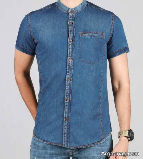 پیراهن مردانه یقه دیپلمات جین