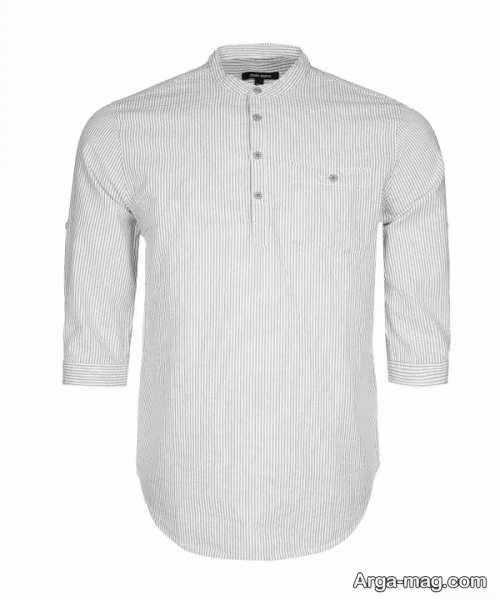 پیراهن مردانه یقه دیپلمات سفید