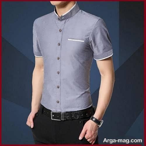 مدل جدید پیراهن مردانه یقه دیپلمات