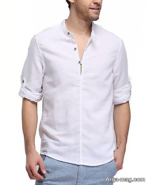 پیراهن مردانه با یقه دیپلمات