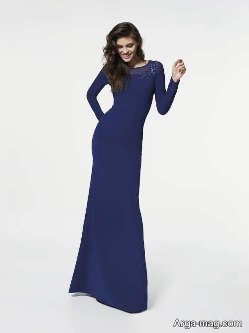 مدل لباس مجلسی بلند و ساده 2018