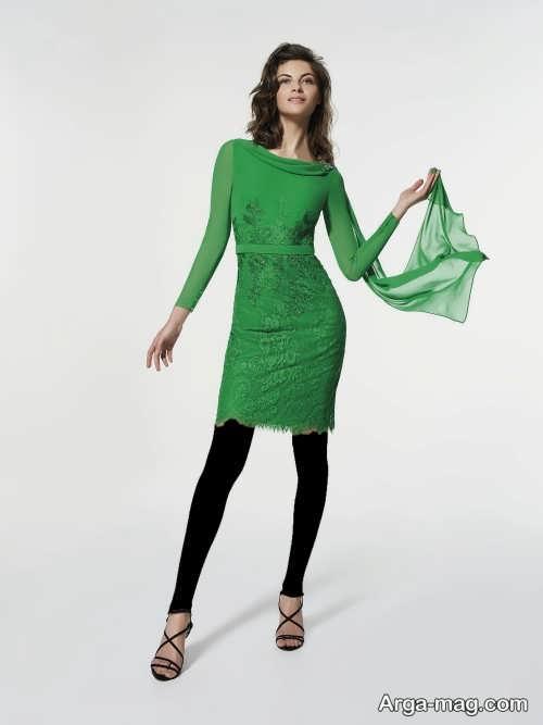 مدل لباس مجلسی پوشیده 2018 کوتاه و شیک