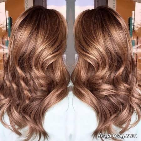 رنگ مو قهوه ای نسکافه ای