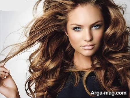رنگ موی زیبا و جدید نسکافه ای