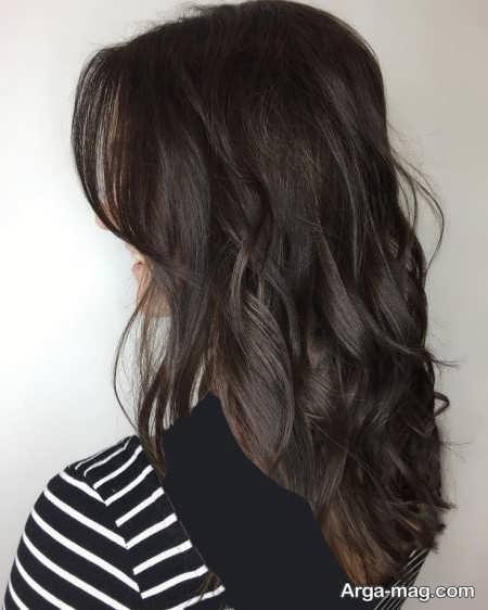 رنگ موی زیبا و خاص نسکافه ای