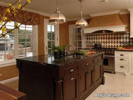 طراحی مدرن آشپزخانه اروپایی