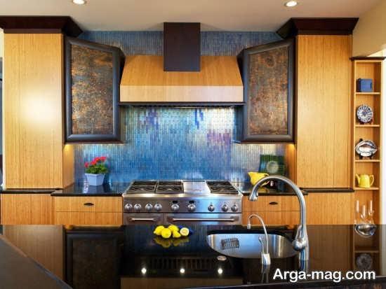 طراحی لاکچری آشپزخانه اروپایی