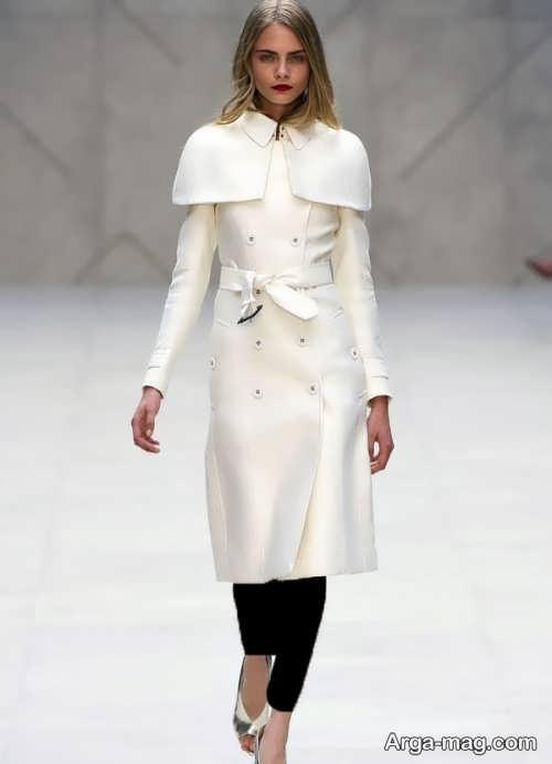 مدل پالتوی سفید و شیک