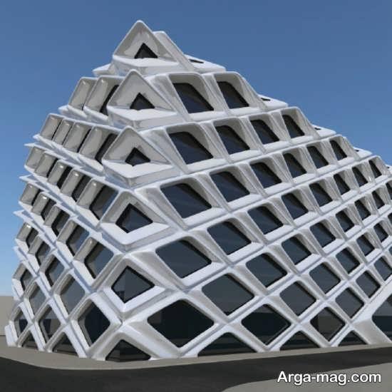 طراحی هرمی نمای ساختمان