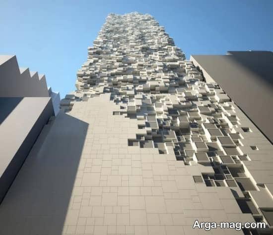 طراحی متفاوت نمای ساختمان