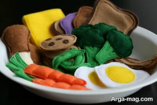 ساخت کاردستی سبزیجات با نمد