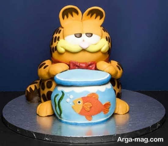 نمونه تزئین کیک با تم گارفیلد