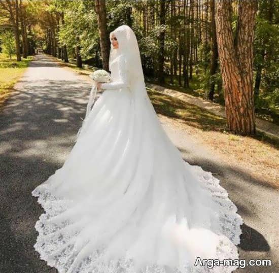 عکس عروس در فضای باز