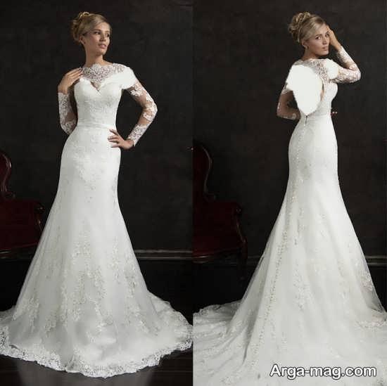 ژست عکس عروس زیبا و ساده