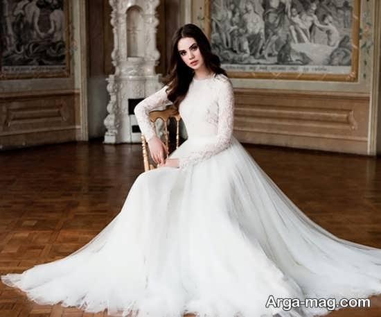 ژست جالب و شاعرانه عکس عروس
