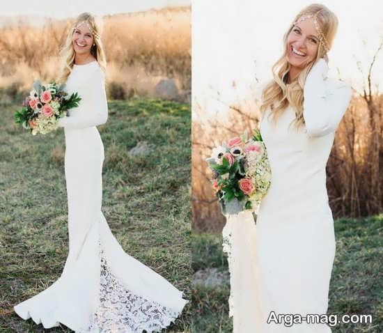 ژست عکس عروس 2018 در فضای باز