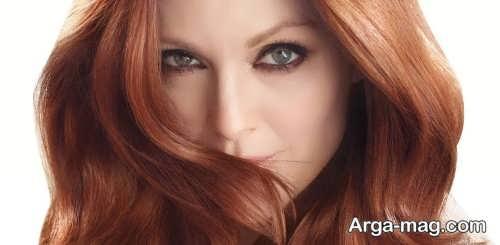 رنگ موی زیبا بدون دکلره