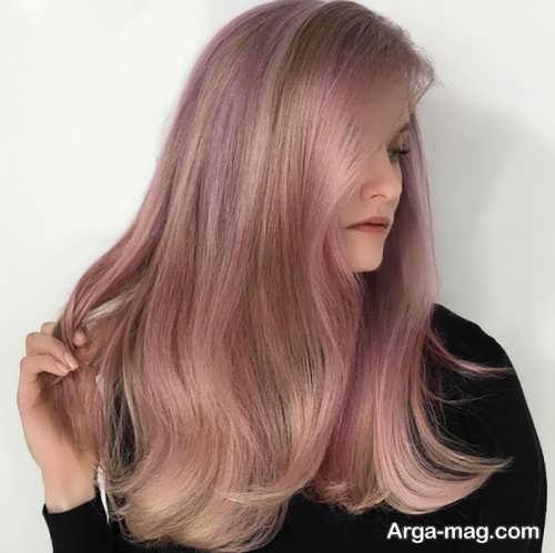 رنگ مو رز گلد بدون دکلره