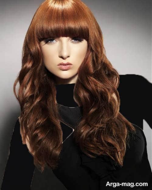 رنگ موی شکلاتی بدون دکلره