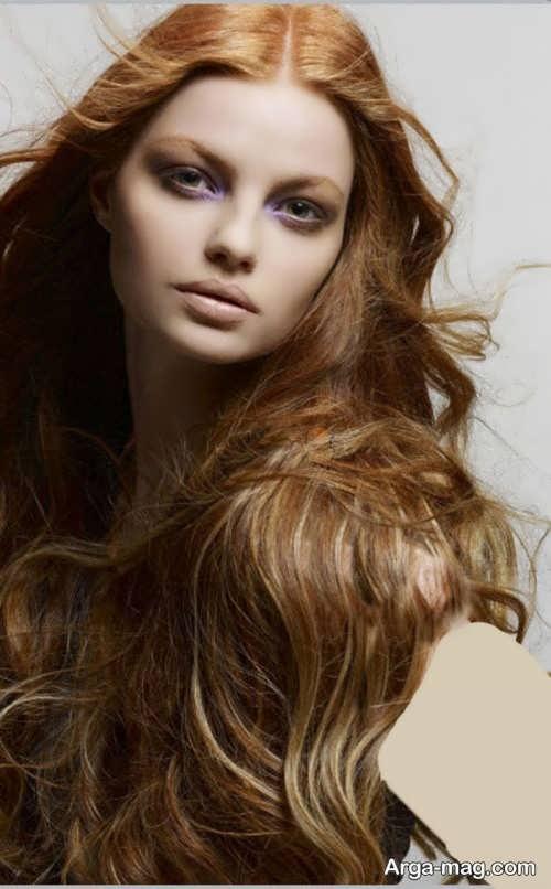 رنگ موی زیبا و شیک بدون دکلره