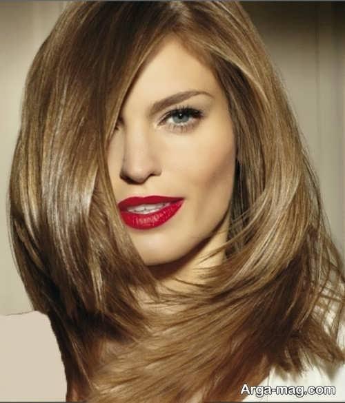 رنگ مو عسلی بدون دکلره